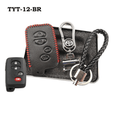Genuine Leather Key Cover TYT-12-BR Toyota Smart Key Genuine Leather Key Cover Fit for Prius