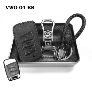 Genuine Leather Key Cover VWG-04-BB Volkswagen Genuine Leather Key Cover Fit For Golf, Polo, Tiguan, Vento, Jetta, Magotan