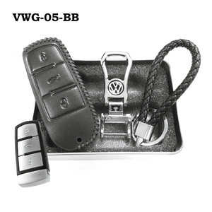 Genuine Leather Key Cover VWG-05-BB Volkswagen Genuine Leather Key Cover Fit For Golf, Polo, Tiguan, Vento, Jetta, Magotan