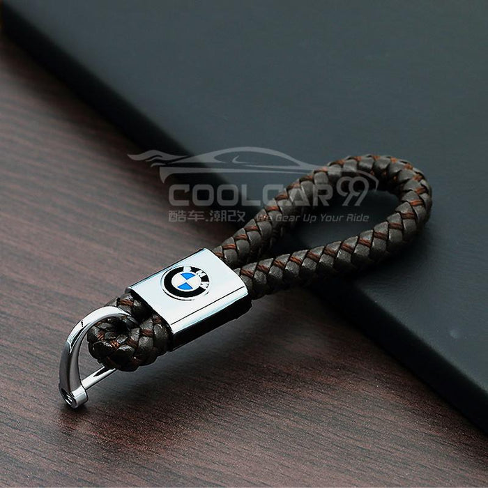 Genuine Leather Strap With Logo BMW High Quality With Logo Genuine Leather Car Key Strap