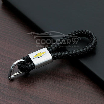 Genuine Leather Strap With Logo Chevrolet High Quality With Logo Genuine Leather Car Key Strap