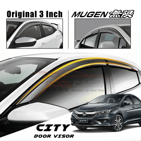 Honda City GM6 2014-2020 Door Visor Mugen Style 4pcs