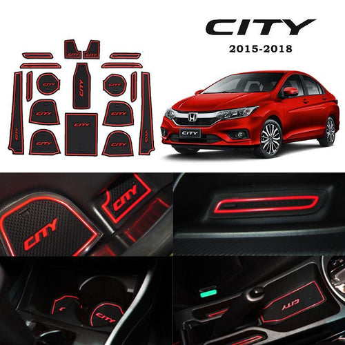 Interior Slot Mat Honda City 2015-2018 Car Interior Slot Mat with Armrest