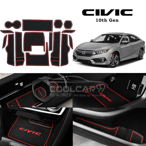 Interior Slot Mat Honda Civic FC 10th Gen Car Interior Slot Mat