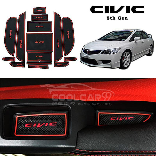 Interior Slot Mat Honda Civic FD 8th Gen Interior Slot Mat