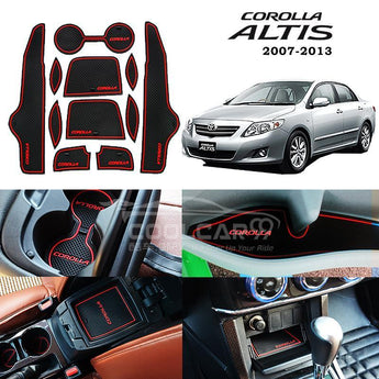 Interior Slot Mat Toyota Corolla Altis 2007-2013 Car Interior Slot Mat