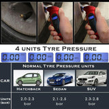 Red LCD Tire Tyre Digital Air Pressure Gauge Tester Meter Tool