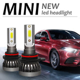 LED 2PCS Mini LED H1 H4 H7 H11 9005 9006 9012 Car Headlight COB Chip 6000K LED Bulbs Super Bright Lamps Fog Light
