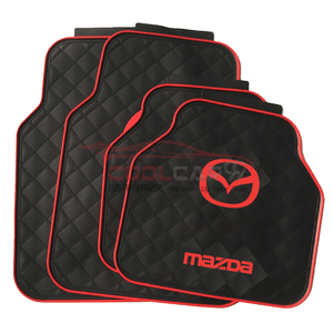 Red MAZDA Car Carpet Latex Floor Mats Foot Mats 5Pcs