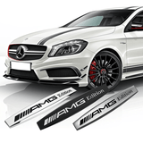 Black Mercedes Benz AMG Edition Car Badge Emblem Logo