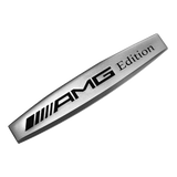 Grey Mercedes Benz AMG Edition Car Badge Emblem Logo