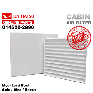 Original Perodua Air Filter 014520-2990 Myvi Lagi Best Axia Alza Bezza Cabin Filter