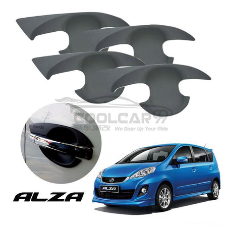 Perodua Alza Door Handle Inner Bowl Protector Cover Trim Matte Black (4pcs/set)