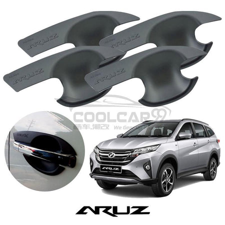 Perodua Aruz Door Handle Inner Bowl Protector Cover Trim Matte Black (4pcs/set)
