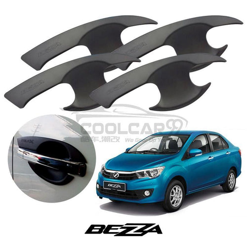 Perodua Bezza Door Handle Inner Bowl Protector Cover Trim Matte Black (4pcs/set)