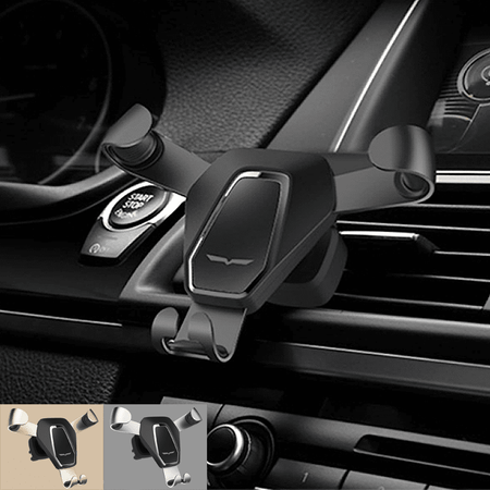 Phone Holder PH-03-BLK Car Holder Gravity Drive Air Vent Mount Phone Holder Phone Stand