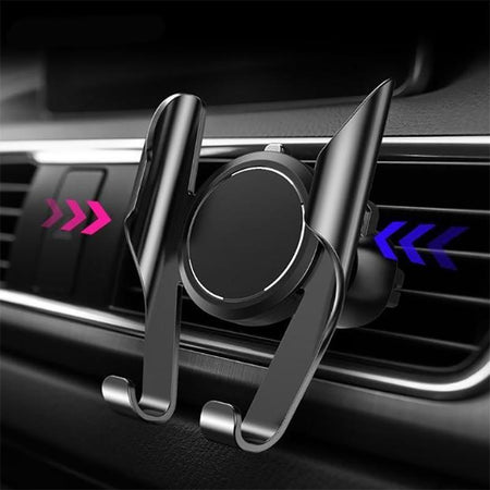 Phone Holder SILVER Car Phone Holder Automotive Air Outlet Card Buckle