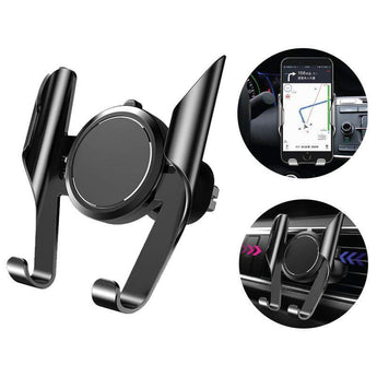 Phone Holder BLACK Car Phone Holder Automotive Air Outlet Card Buckle