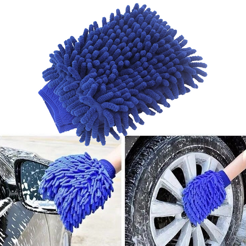 Polish & Wax Car Vehicle Microfiber Soft Hand Towel Coral Chenille Washing Cleaning Glove