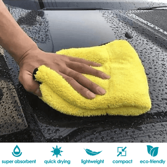 Polish & Wax Super Absorbent Car Wash Microfiber Coral Velvet Towel Cleaning