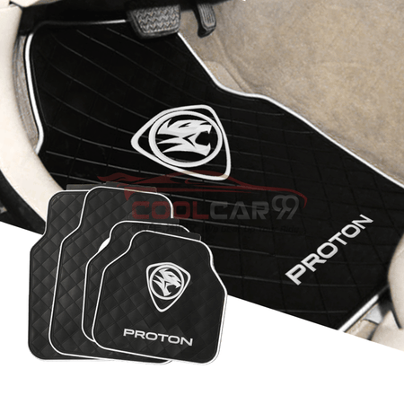 Red PROTON Car Carpet Latex Floor Mats Foot Mats 5Pcs