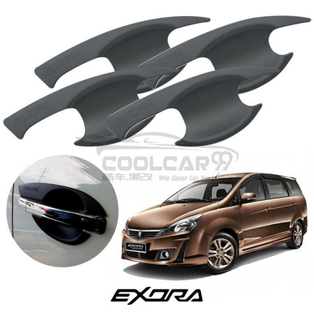 Proton Exora Door Handle Inner Bowl Protector Cover Trim Matte Black (4pcs/set)