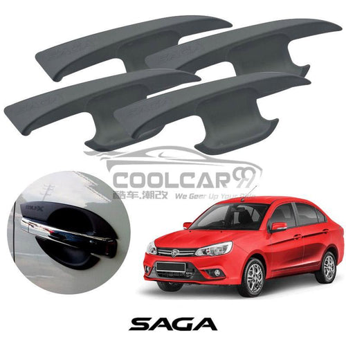 Proton Saga 2016 Door Handle Inner Bowl Protector Cover Trim Matte Black (4pcs/set)