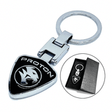 PROTON Stainless Steel Metal Car Logo Keychain 3D Key Chain
