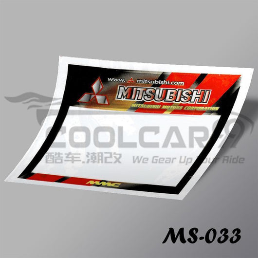 Roadtax Sticker Mitsubishi Car Road Tax Sticker