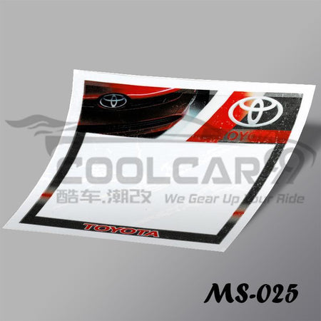 Roadtax Sticker Toyota Car Road Tax Sticker