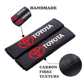 Seat Belt Cover SUBARU 2pcs SUZUKI Carbon Fiber Car Seat Belt Cover Case Shoulder Pad