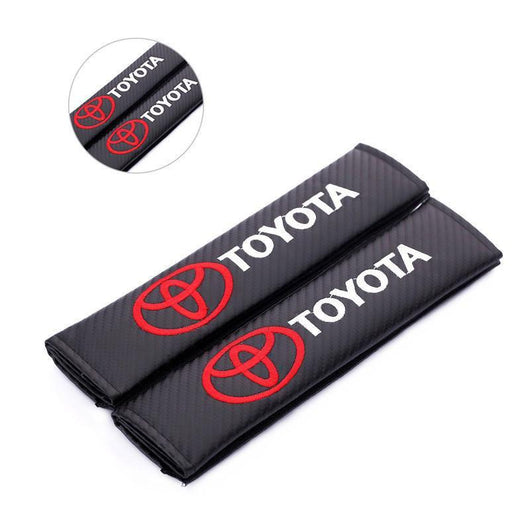 Seat Belt Cover Toyota 2pcs Toyota TRD Carbon Fiber Car Seat Belt Cover Case Shoulder Pad