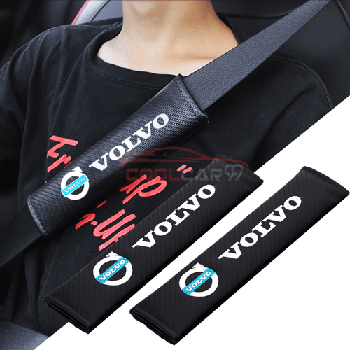 Seat Belt Cover VOLVO 2pcs VOLVO Carbon Fiber Car Seat Belt Cover Case Shoulder Pad