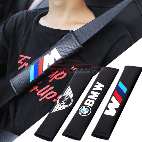 Seat Belt Cover AUDI Copy of 2pcs Audi RS SLine Carbon Fiber Car Seat Belt Cover Case Shoulder Pad
