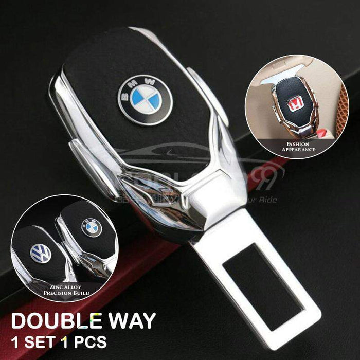 Seatbelt Socket Double Way One Set 1 PCs BMW Metal Car Safety Seat Belt Clip