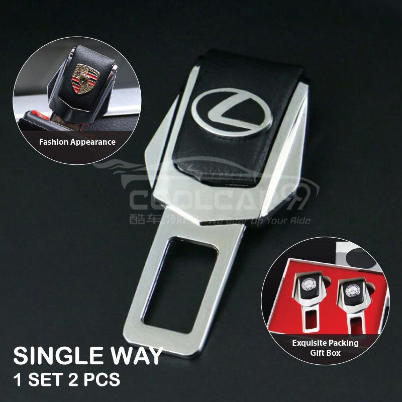 Seatbelt Socket Single Way One Set 2 PCs Lexus Metal Car Safety Seat Belt Clip