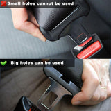 Seatbelt Socket Double Way One Set 1 PCs Peugeot Metal Car Safety Seat Belt Clip