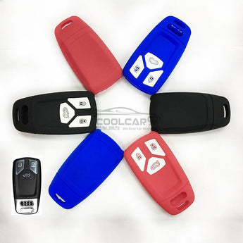 Silicone Key Cover BLACK Audi A4 Silicone Key Case Cover