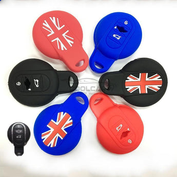 Silicone Key Cover BLACK BMW MINI Cooper Silicone Key Case Cover