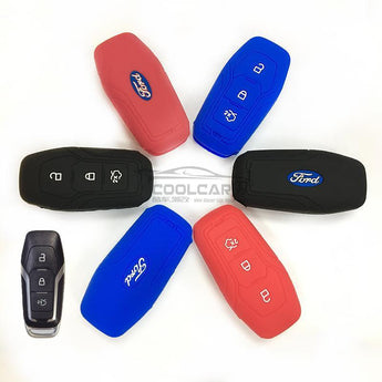 Silicone Key Cover BLACK Ford Silicone Key Case Cover