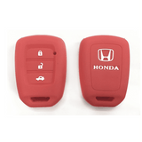 Silicone Key Cover Red x 1 Honda City 2014-2017 Silicone Key Case Cover