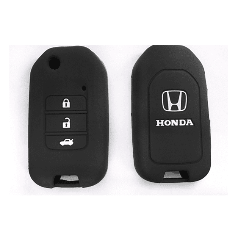 Silicone Key Cover Black x 1 Honda City / Civic / Fit Silicone Key Case Cover