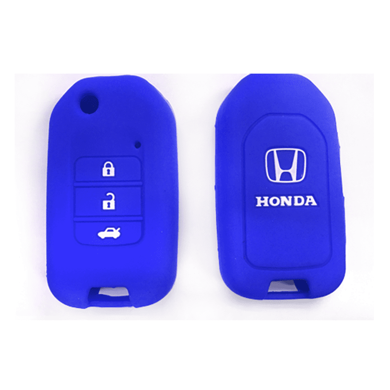 Silicone Key Cover Blue x 1 Honda City / Civic / Fit Silicone Key Case Cover