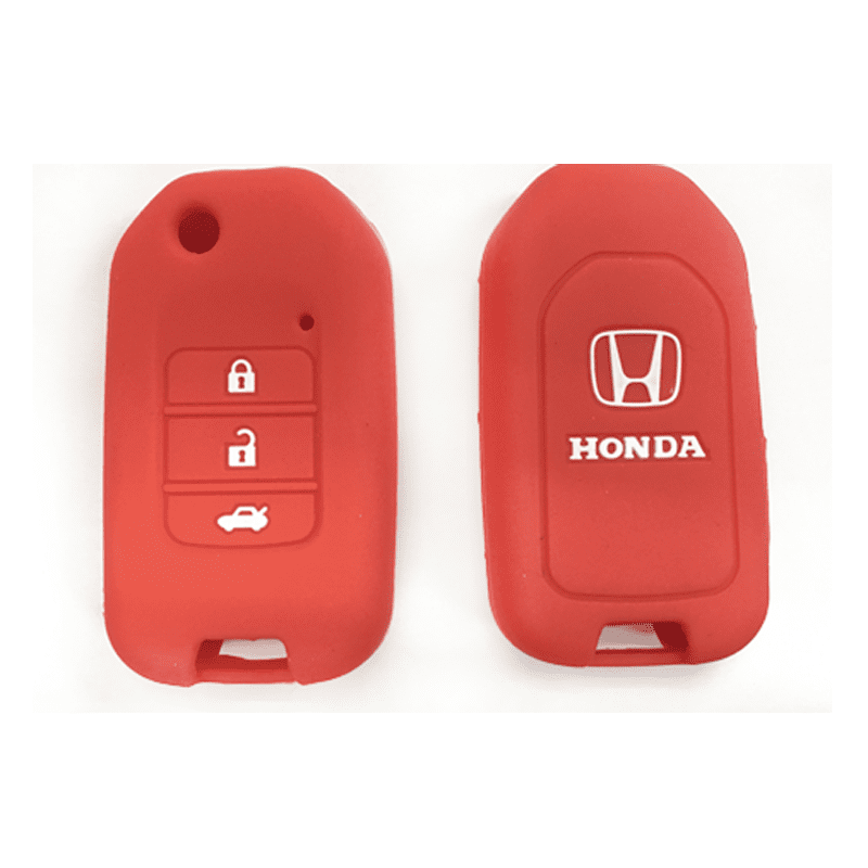 Silicone Key Cover Red x 1 Honda City / Civic / Fit Silicone Key Case Cover
