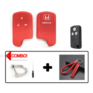 Silicone Key Cover Red Combo Honda Civic FB 2011-2015 Silicone Key Case Cover