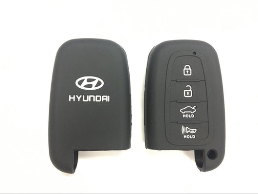 Silicone Key Cover BLACK Hyundai Silicone Key Case Cover