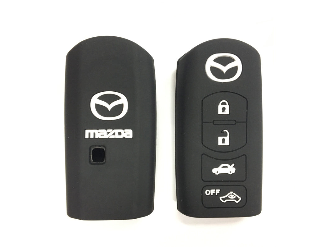 Silicone Key Cover BLACK Mazda CX-7 CX-9 MX-5 Silicone Key Case Cover