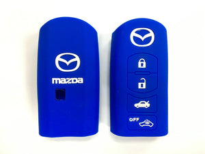 Silicone Key Cover BLUE Mazda CX-7 CX-9 MX-5 Silicone Key Case Cover