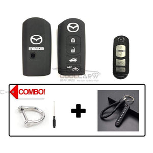Silicone Key Cover COMBO-BLACK Mazda CX-7 CX-9 MX-5 Silicone Key Case Cover