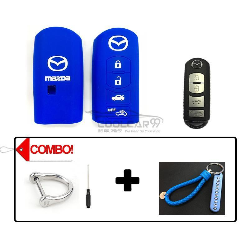 Silicone Key Cover COMBO-BLUE Mazda CX-7 CX-9 MX-5 Silicone Key Case Cover